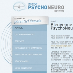Site web de neuropsychologue, Institut PsychoNeuro1