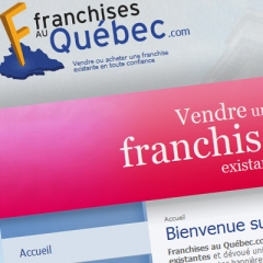 Conception de site internet - Site web de franchises au Québec