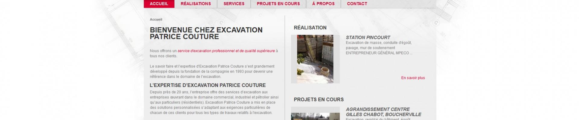 Site web d'excavation Patrice Couture