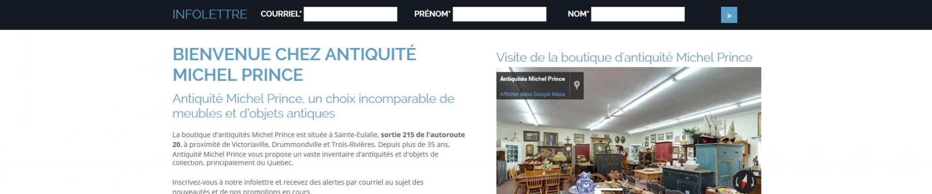Site web dynamique, Antiquité Michel Prince