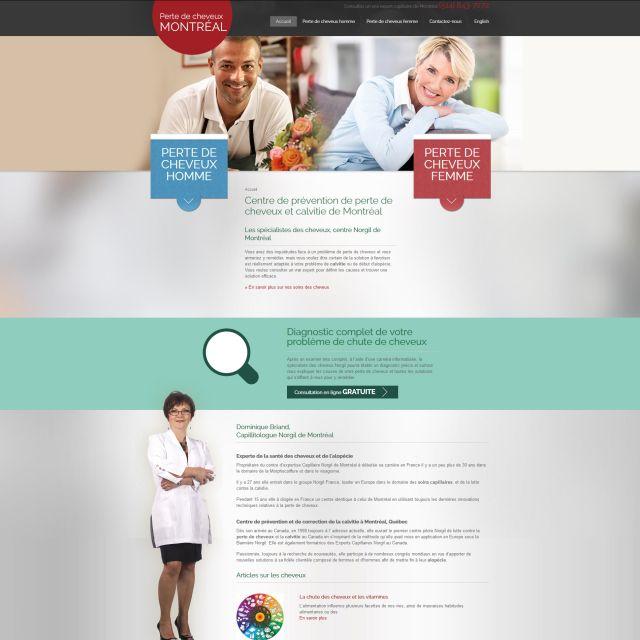 Optimisation de design et site web de Perte de cheveux Montréal