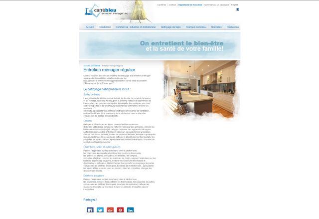 Site web de carrébleu entretien ménager