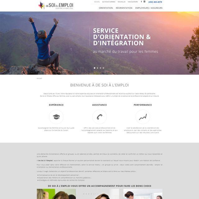 Site web organisme de Soi à l'Emploi